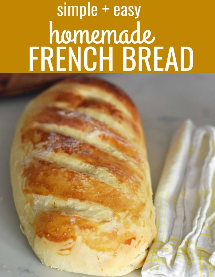 Homemade Bakery French Bread. How to make homemade french bread at home. Quick and easy french bread recipe. www.modernhoney.com #frenchbread #breadrecipe #frenchbreadrecipe