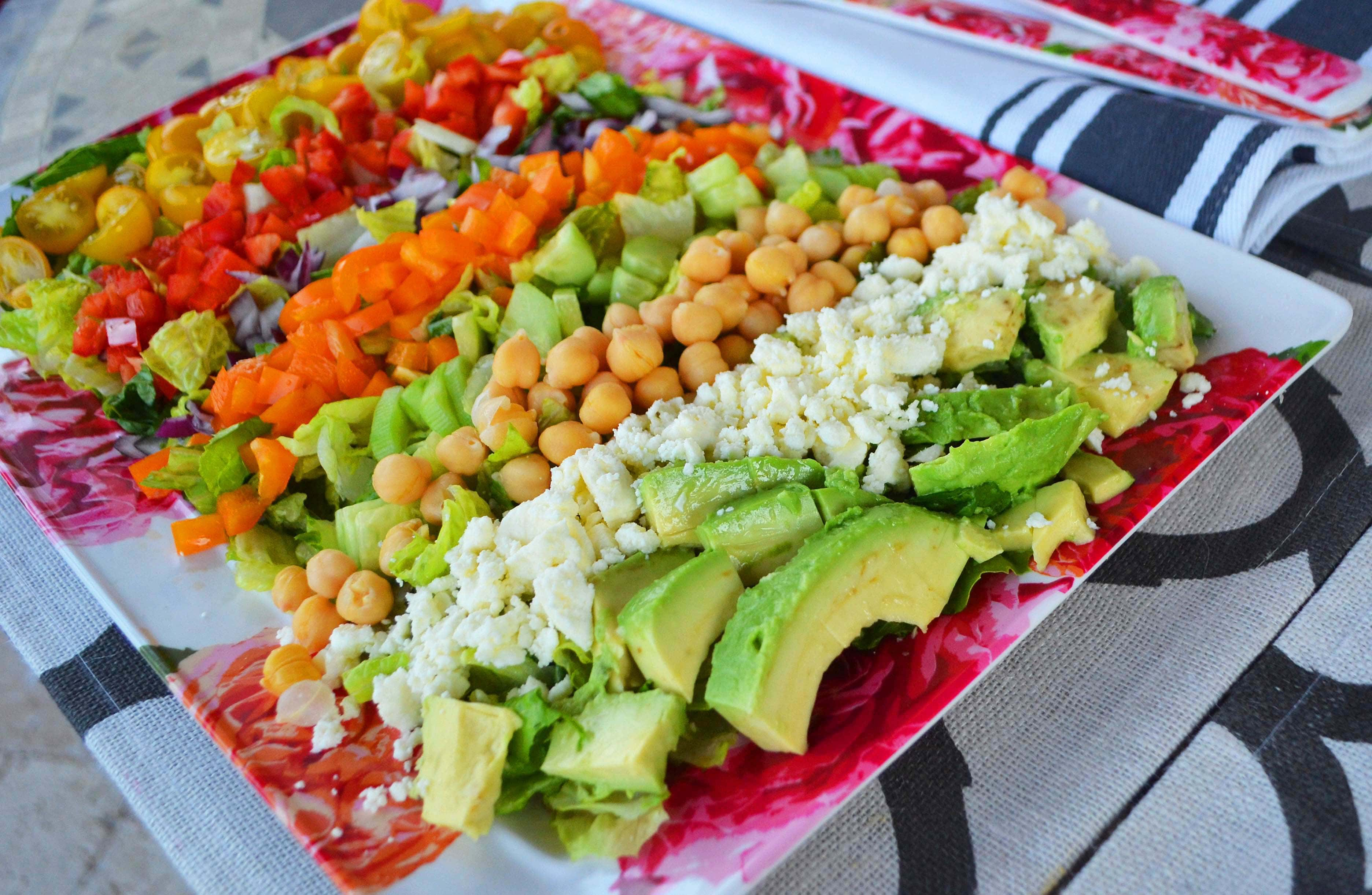 Color Me Pretty Salad. It's a powerhouse salad packed with every color in the rainbow of vegetables.