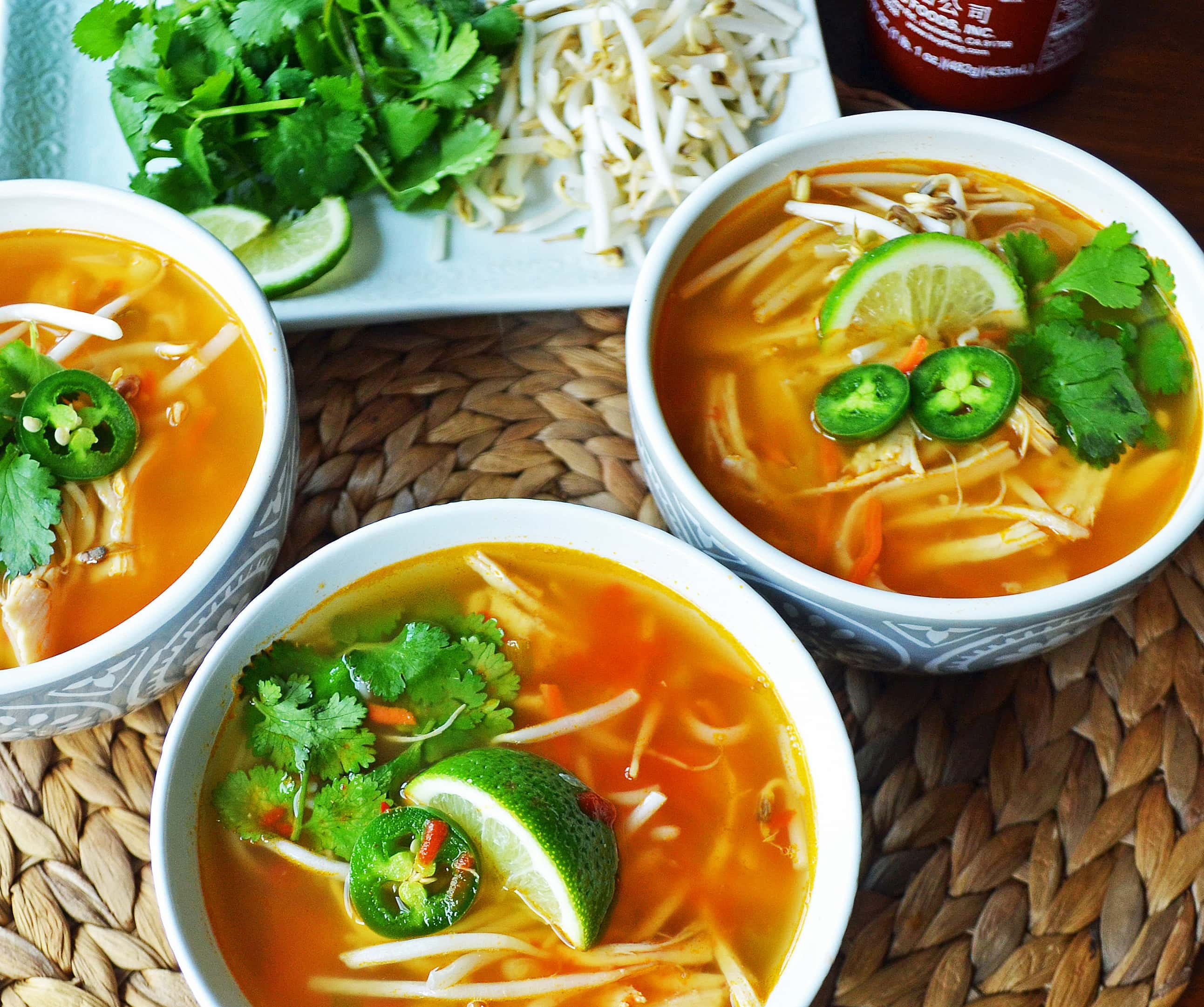 Phony Pho Chicken Broth Bowls – Modern Honey
