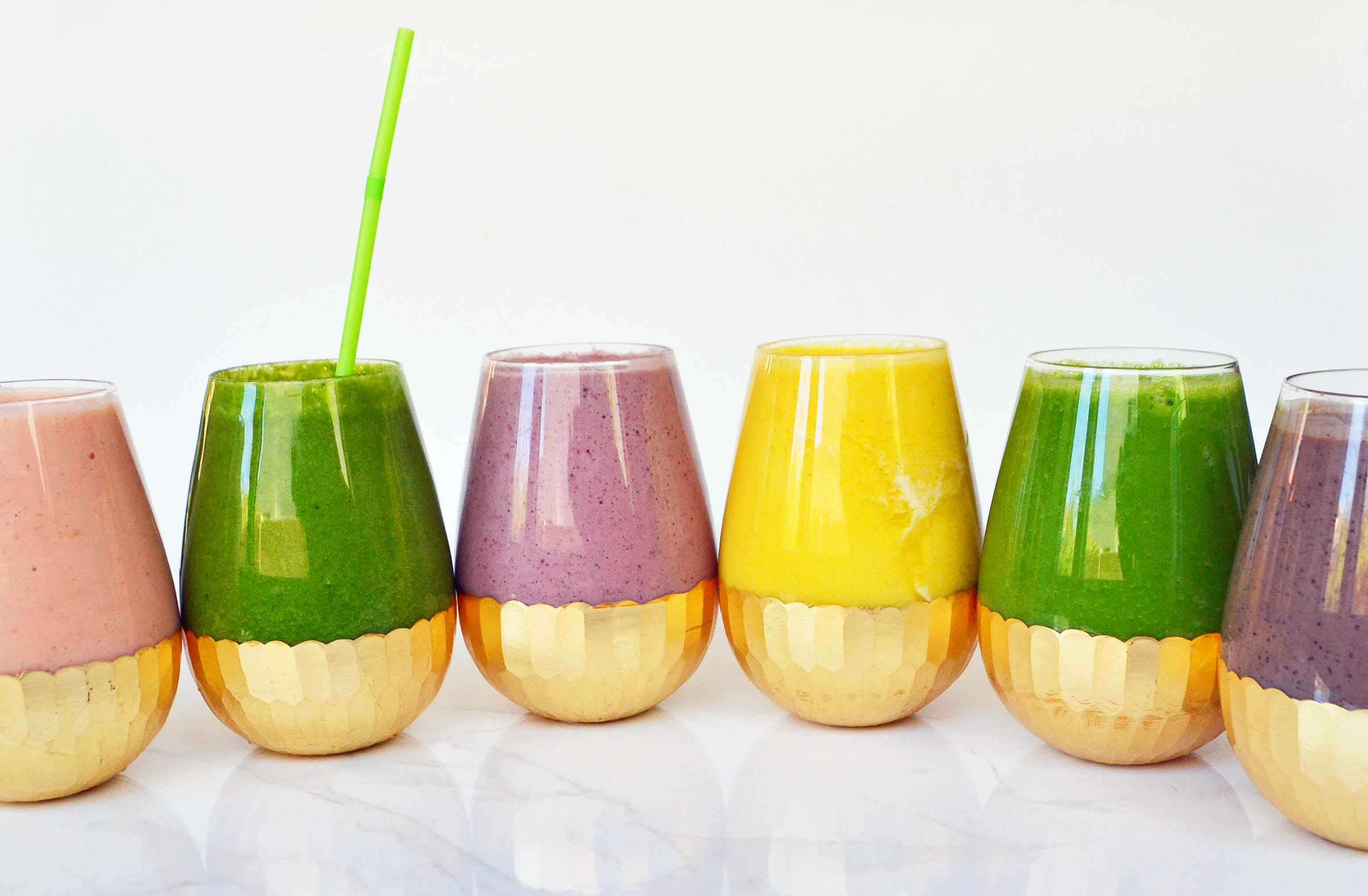 6 Healthy Superfood Smoothie Recipes by Modern Honey. Healthy and delicious!