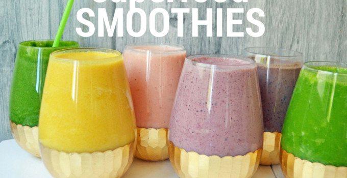 6 Healthy Superfood Smoothies by Modern Honey - www.modernhoney.com