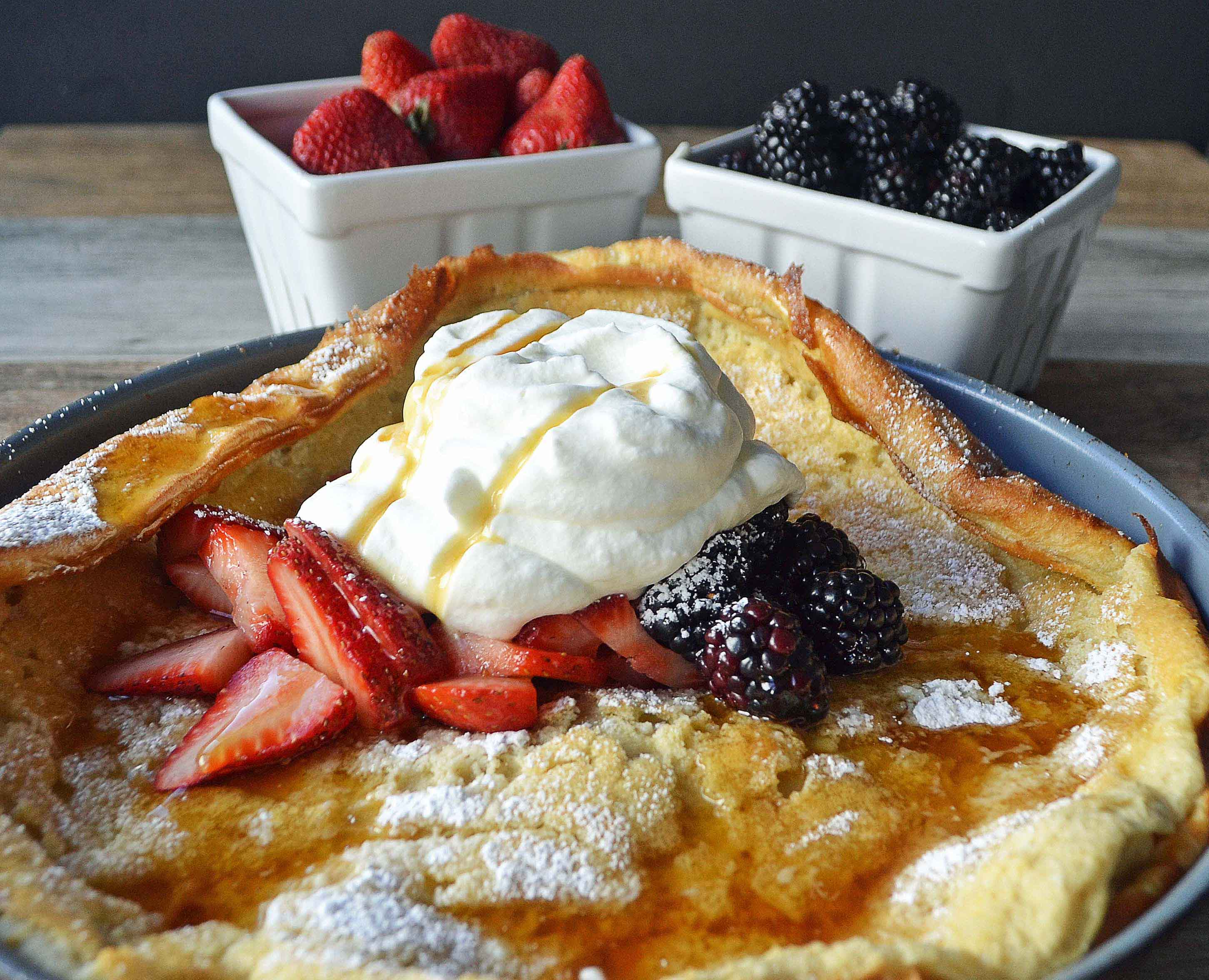 Dutch Baby Puff Pancake by Modern Honey - www.modernhoney.com