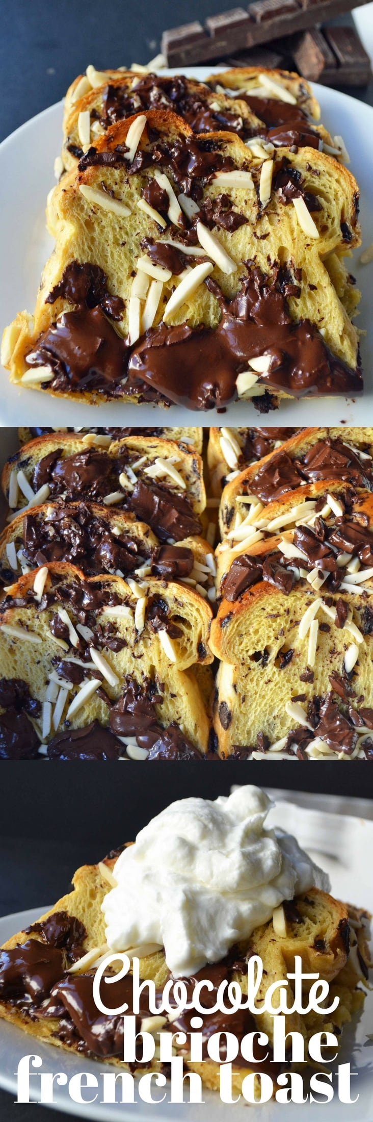 Chocolate Almond Brioche French Toast by Modern Honey.