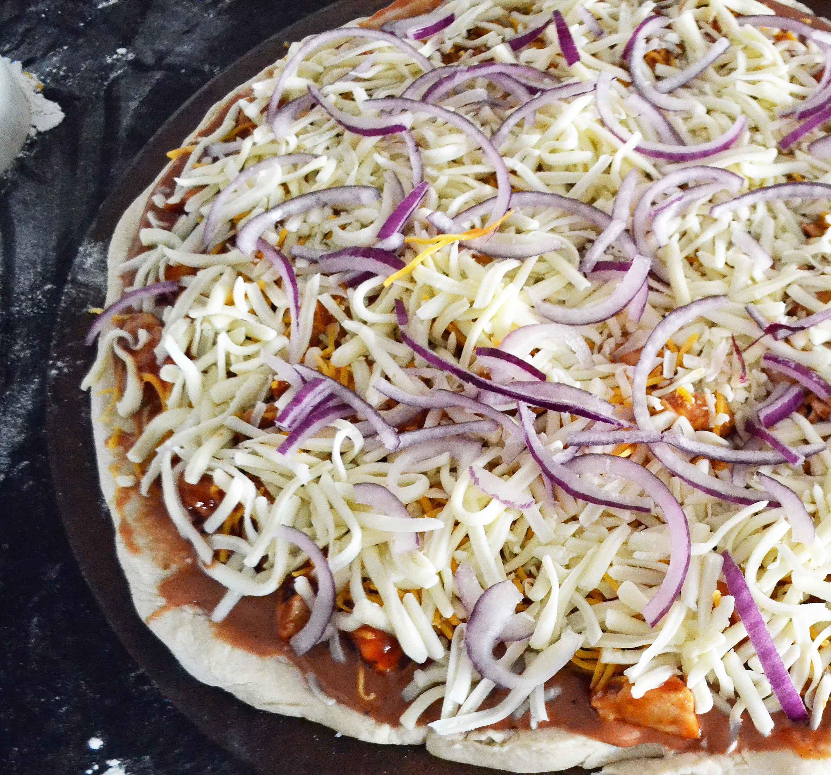 Homemade BBQ Chicken Pizza by Modern Honey www.modernhoney.com
