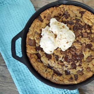 Lady's Chocolate Chip Skillet Cookie