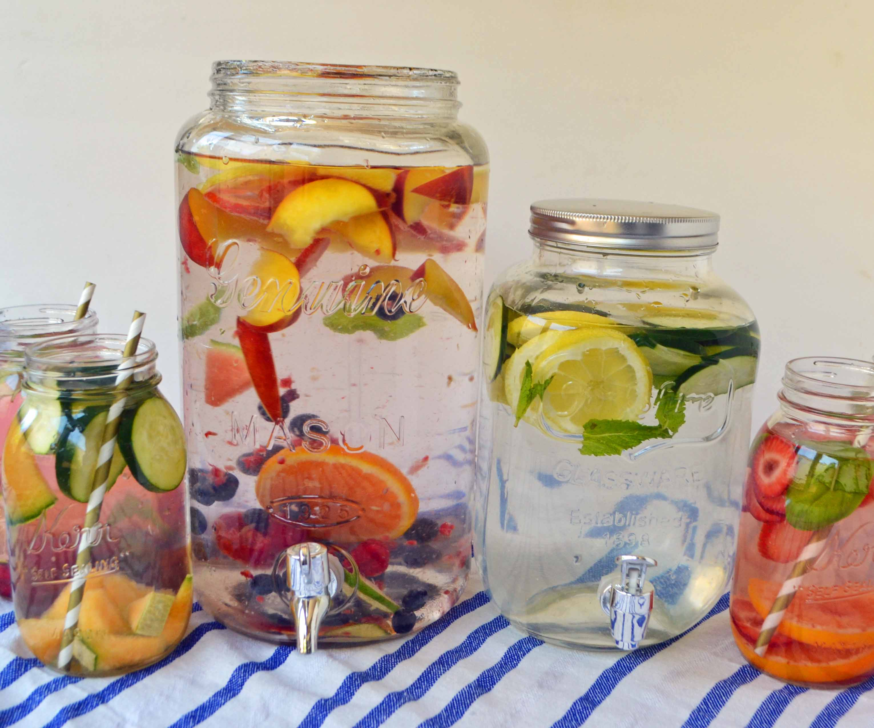 Spa Fruit Infused Detox Water by Modern Honey l www.modernhoney.com