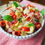 Antipasto Tortellini Pasta Salad by Modern Honey l www.modernhoney.com