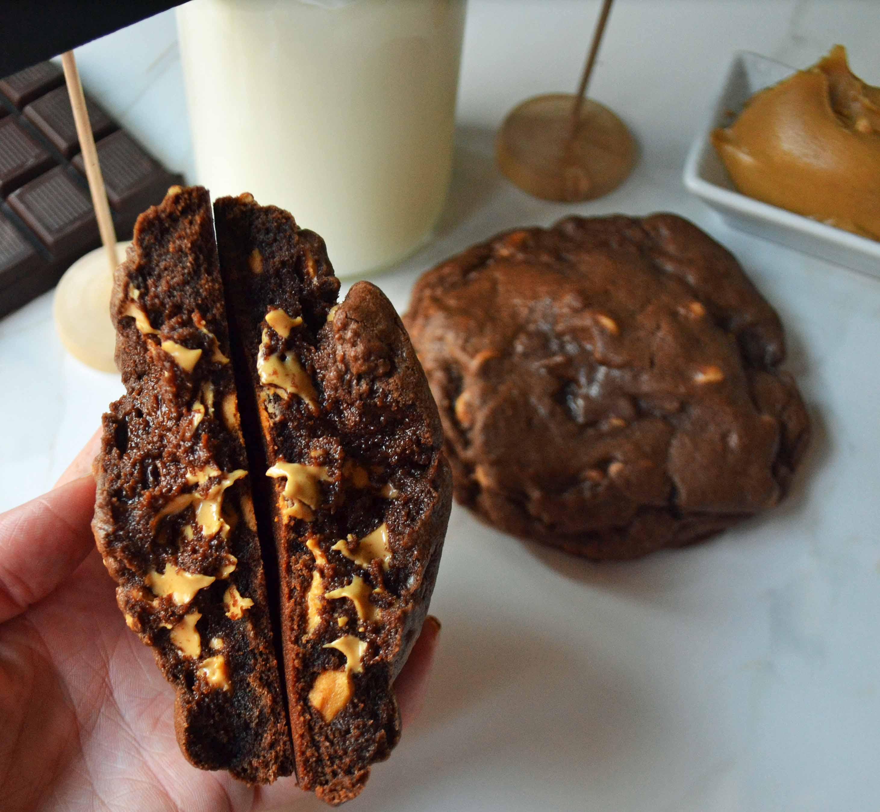 Levain Bakery Dark Chocolate Peanut Butter Chip Cookies Modern Honey