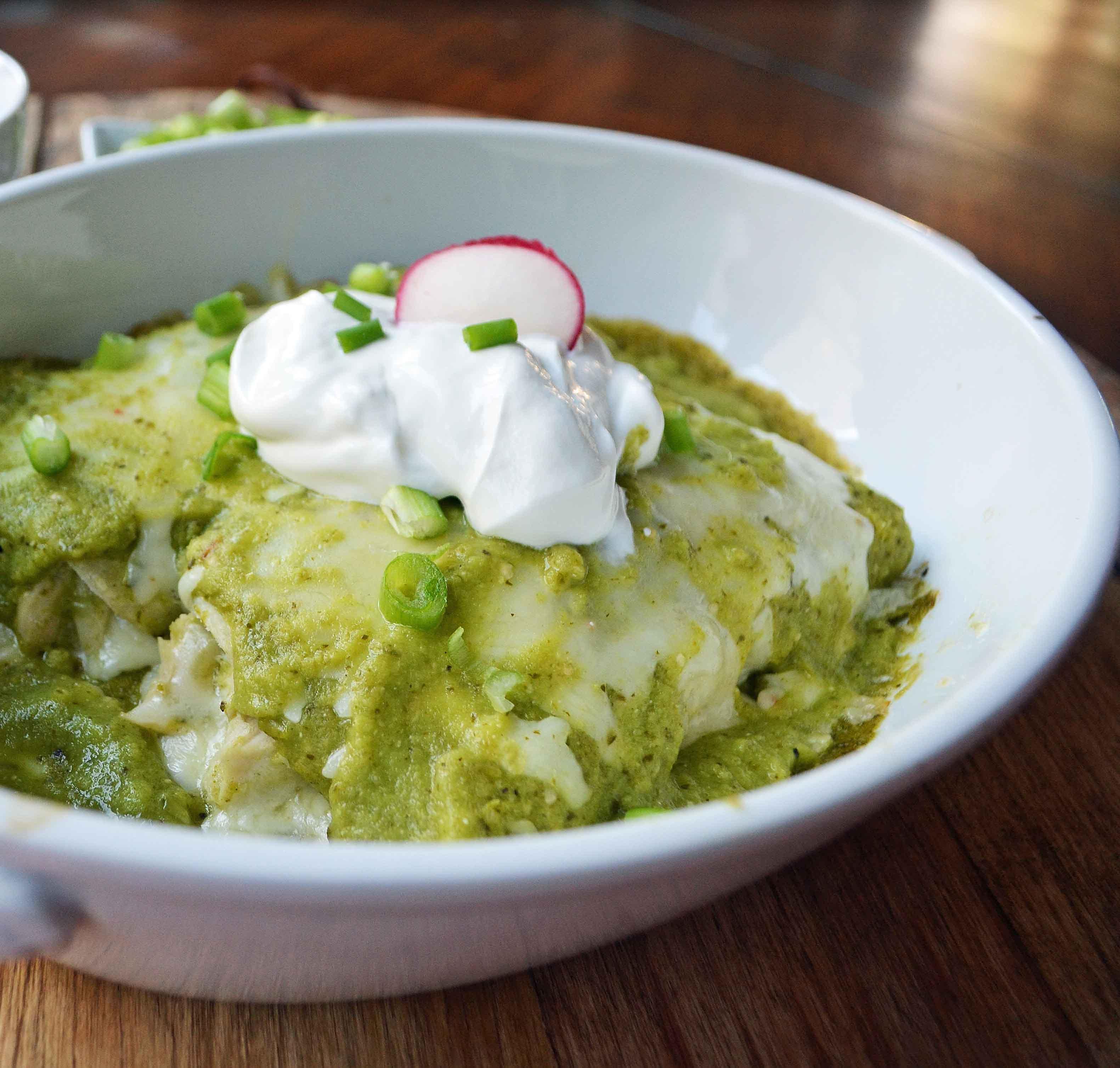 Chicken Enchiladas Verdes by Modern Honey l www.modernhoney.com