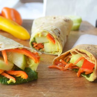 Avocado Ranch Hummus Veggie Wraps