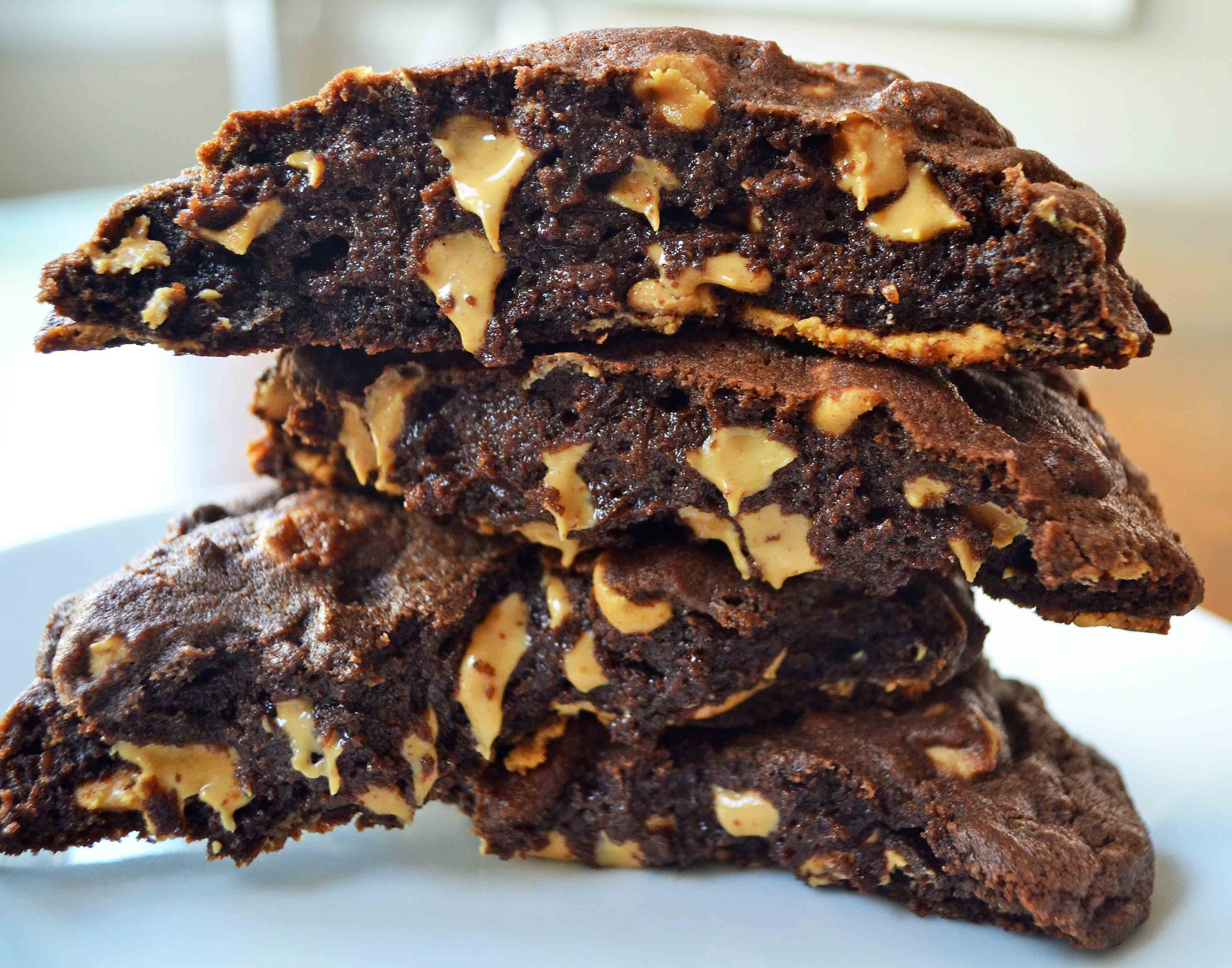 Levain Bakery Dark Chocolate Peanut Butter Chip Cookie. The Best Copcyat Levain Bakery Chocolate Peanut Butter Chip Cookie Recipe. www.modernhoney.com