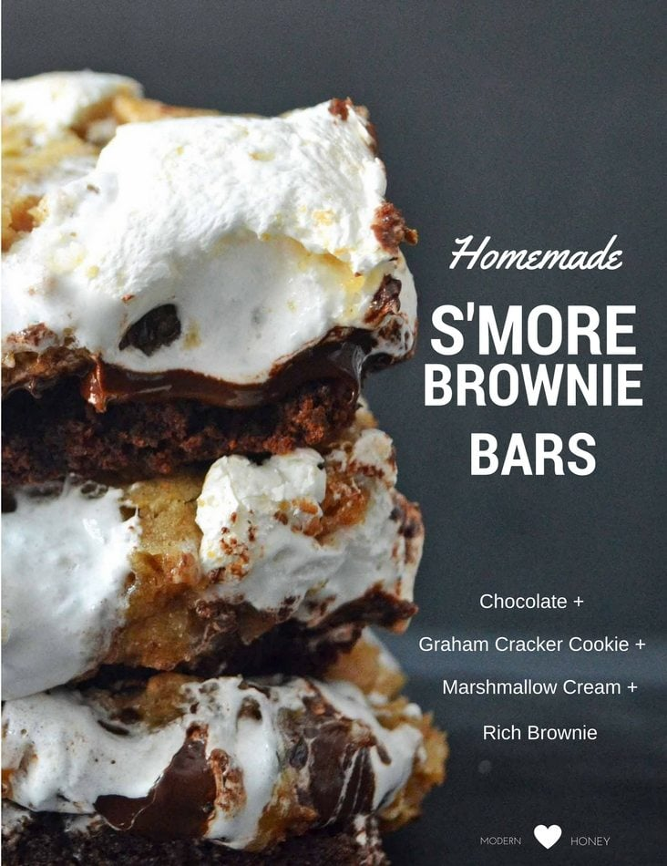 S'more Brownie Bars by Modern Honey | www.modernhoney.com