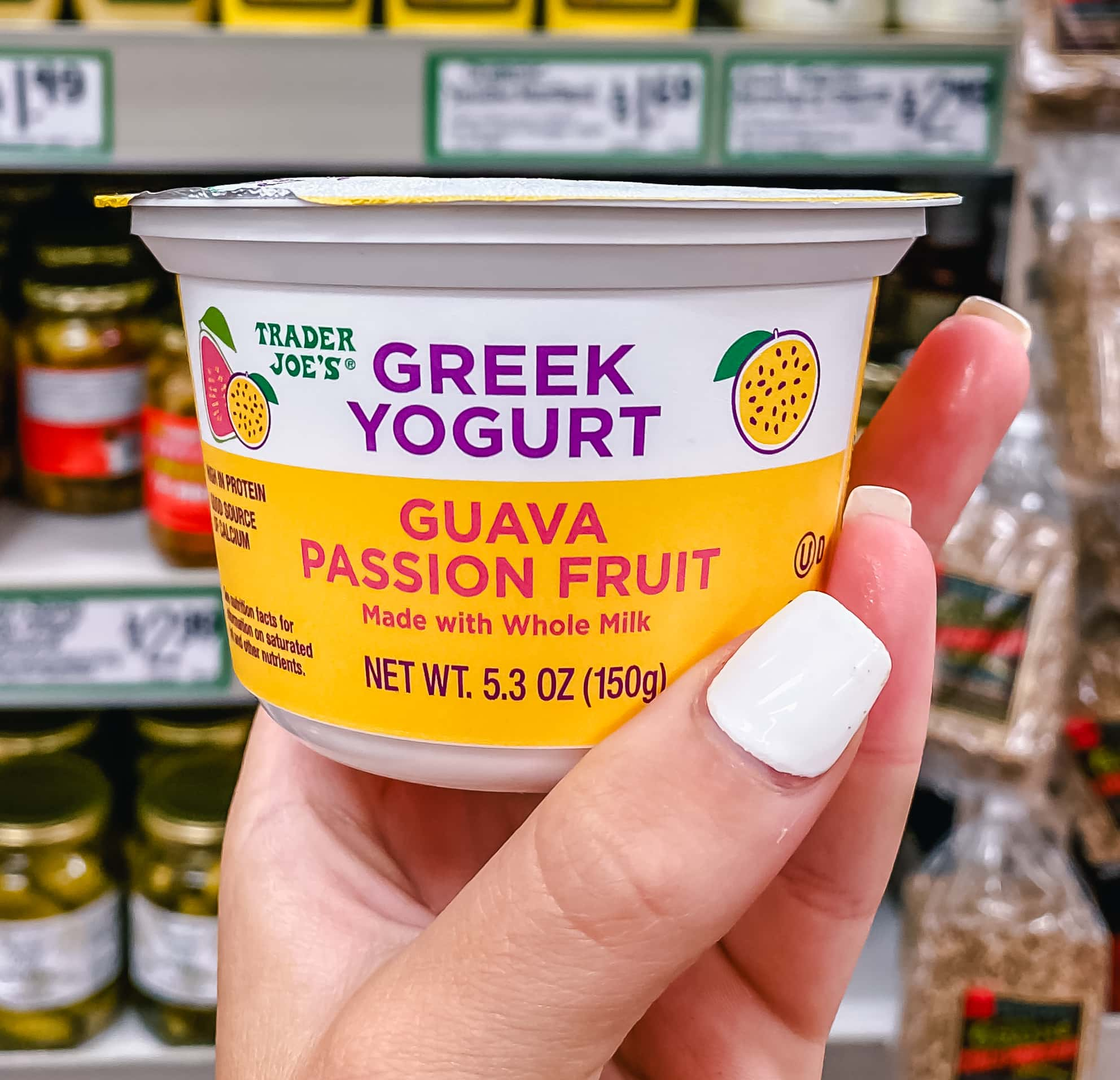 Guava Passionfruit Greek Yogurt. The Best Things to Buy at Trader Joe's.
