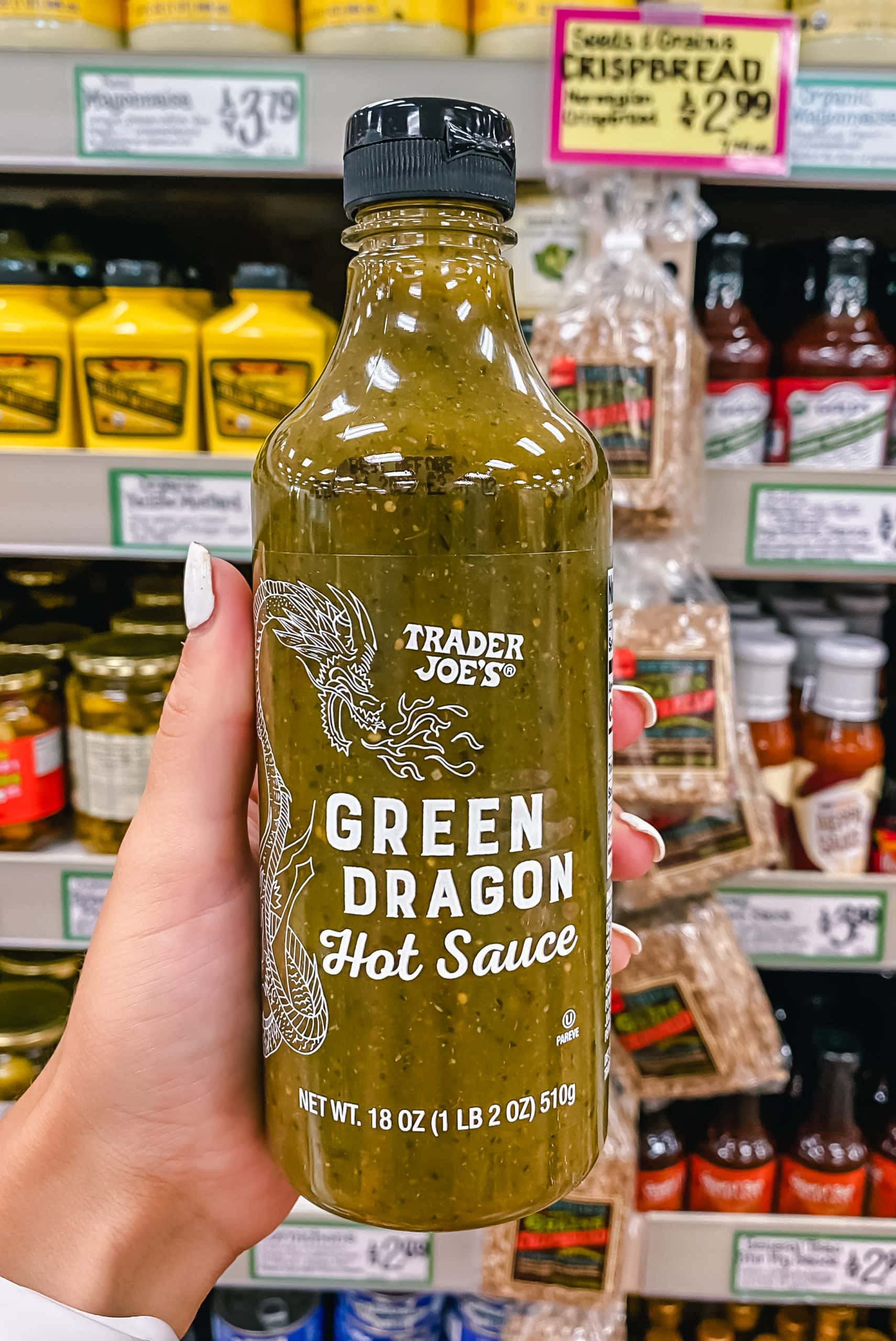 Green Dragon Sauce. Best Foods to Buy from Trader Joe's.