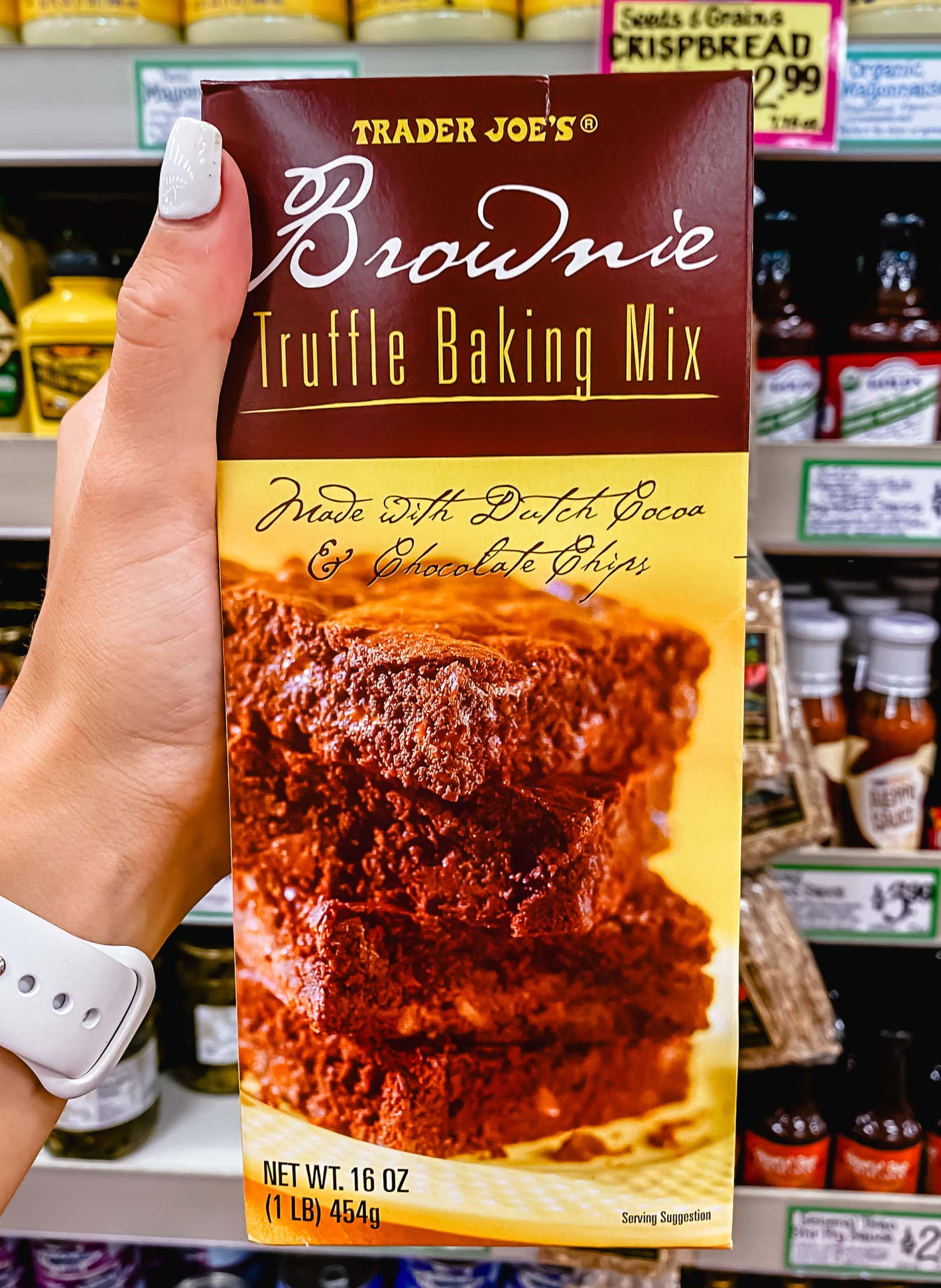 Brownie Truffle Baking Mix from Trader Joe's. Best Things to Buy at Trader Joe's.