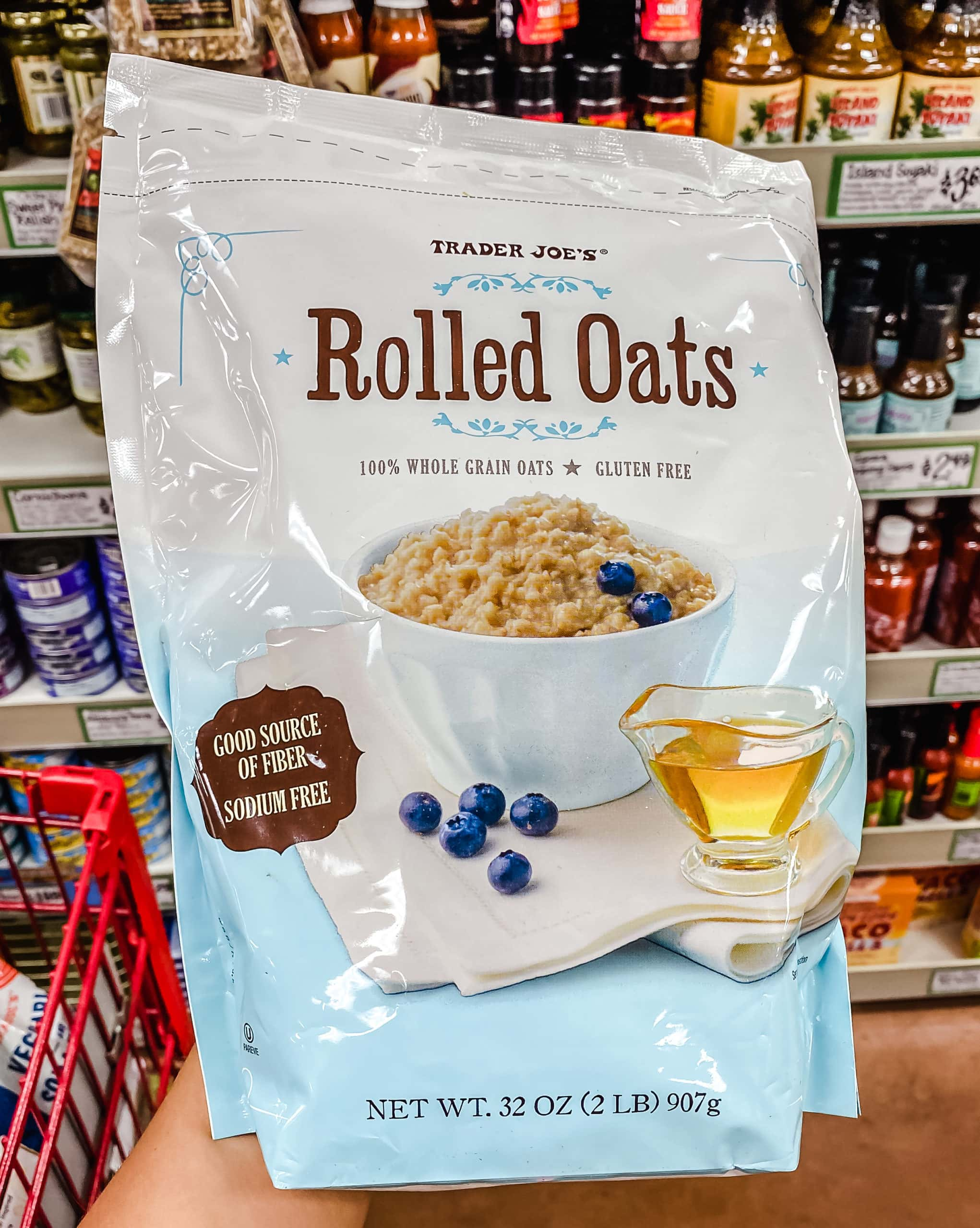 Gluten Free Rolled Oats from Trader Joe's. The best foods to buy from Trader Joe's.