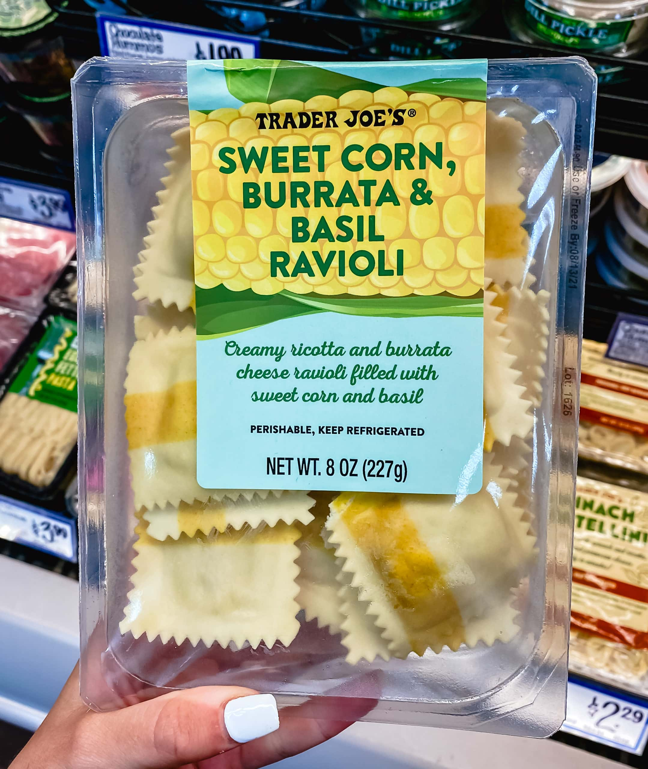 Sweet Corn and Burrata, and Basil Ravioli from Trader Joe's. The Best Foods to Buy from Trader Joe's.