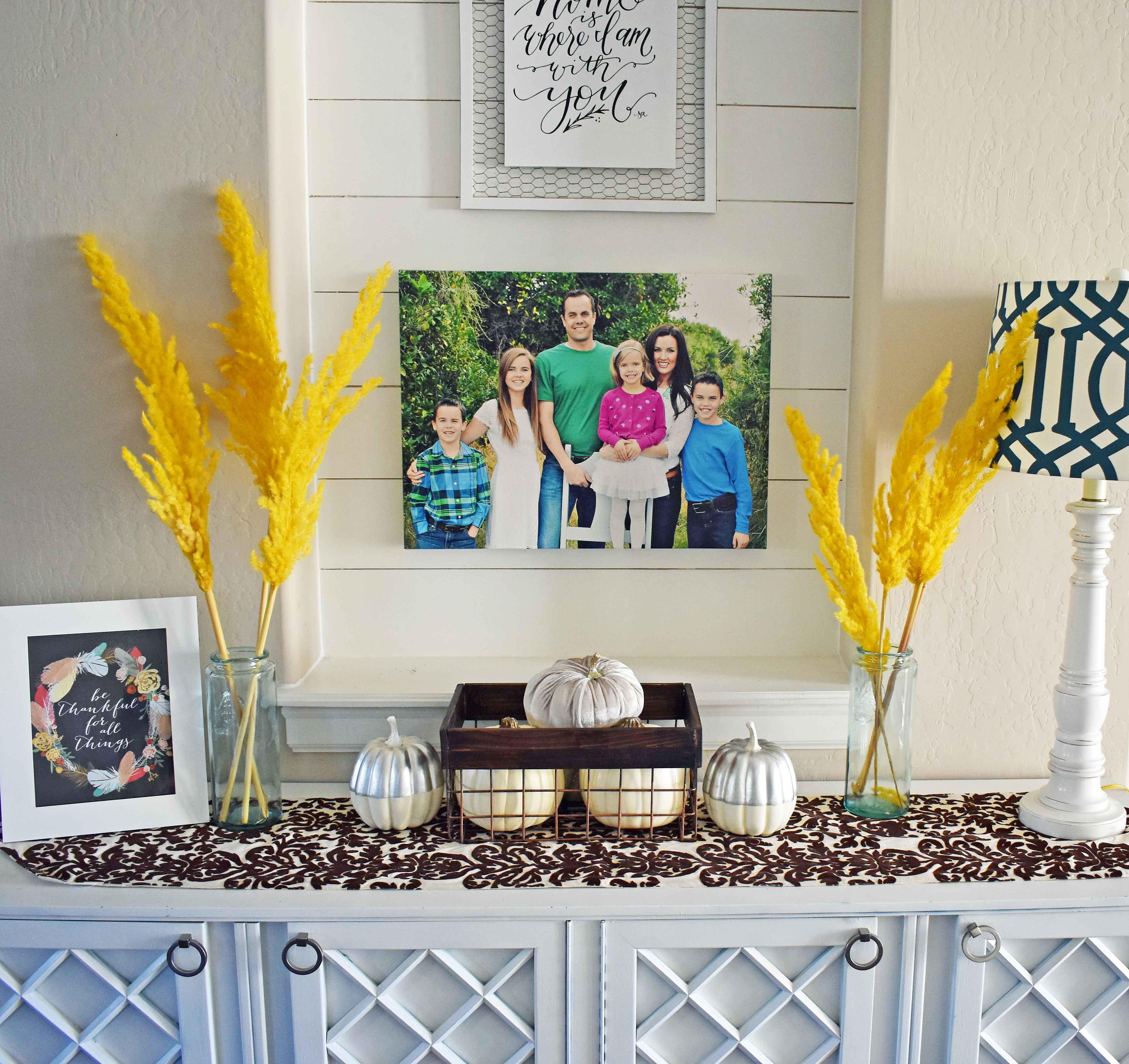 Ideas for decorating for Fall by Modern Honey -- www.modernhoney.com