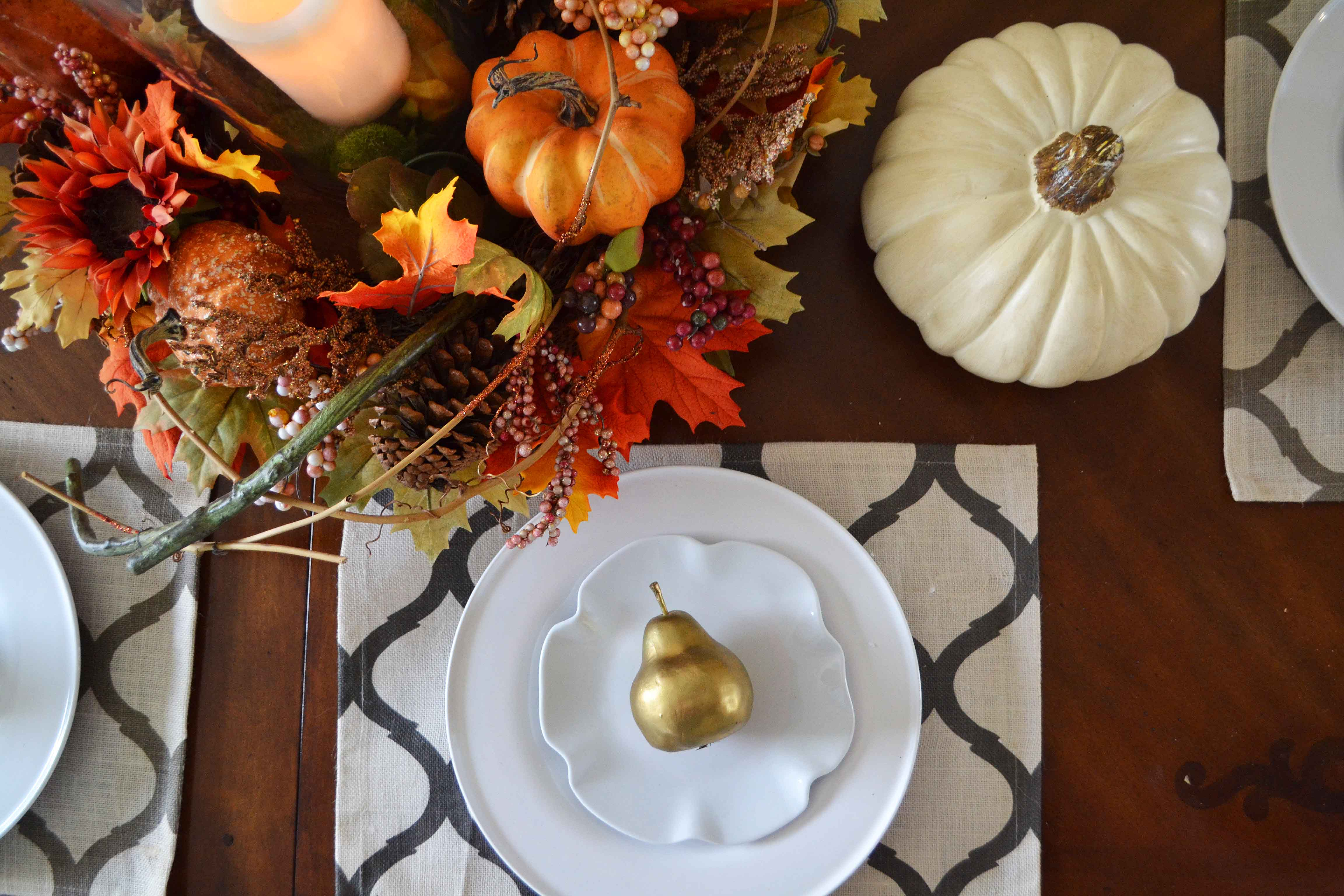 Fall Decor Ideas. Fall Tablescape Ideas. Fall Mantle Decor Ideas. Pumpkin Cupcakes with Salted Caramel Frosting by Modern Honey