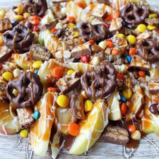 Candy Madness Caramel Apple Nachos