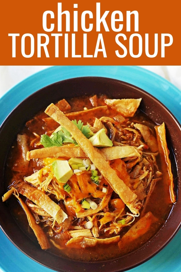 Chicken Tortilla Soup. The Best Homemade Chicken Tortilla Soup Recipe. Flavorful, easy chicken soup recipe. www.modernhoney.com #chickentortillasoup #tortillasoup #chickentortillasouprecipe