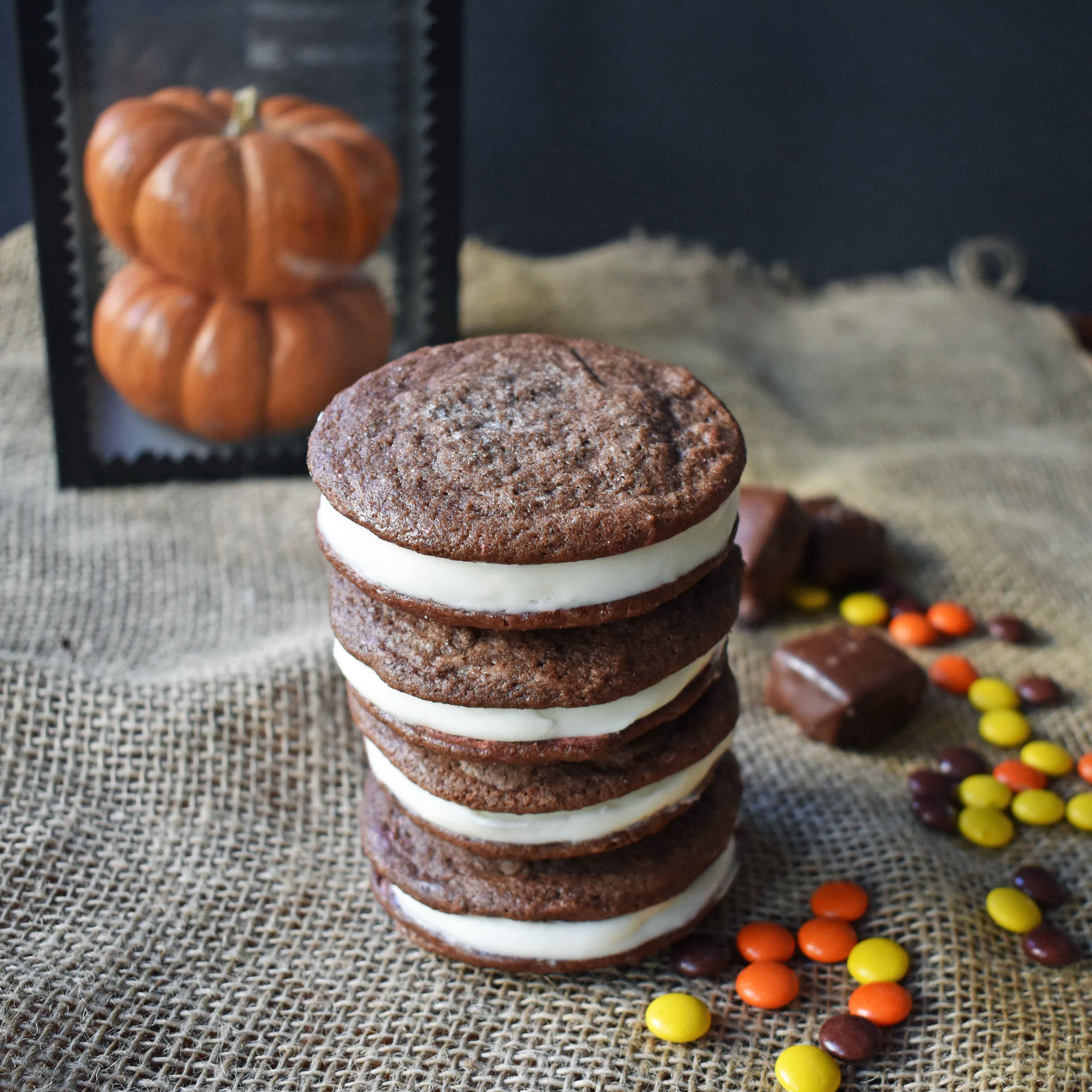 Homemade Oreo Cookies by Modern Honey. Rich Chocolate Cookies filled with Sweet Buttercream Filling. It's Oreos cookies but so much better.
