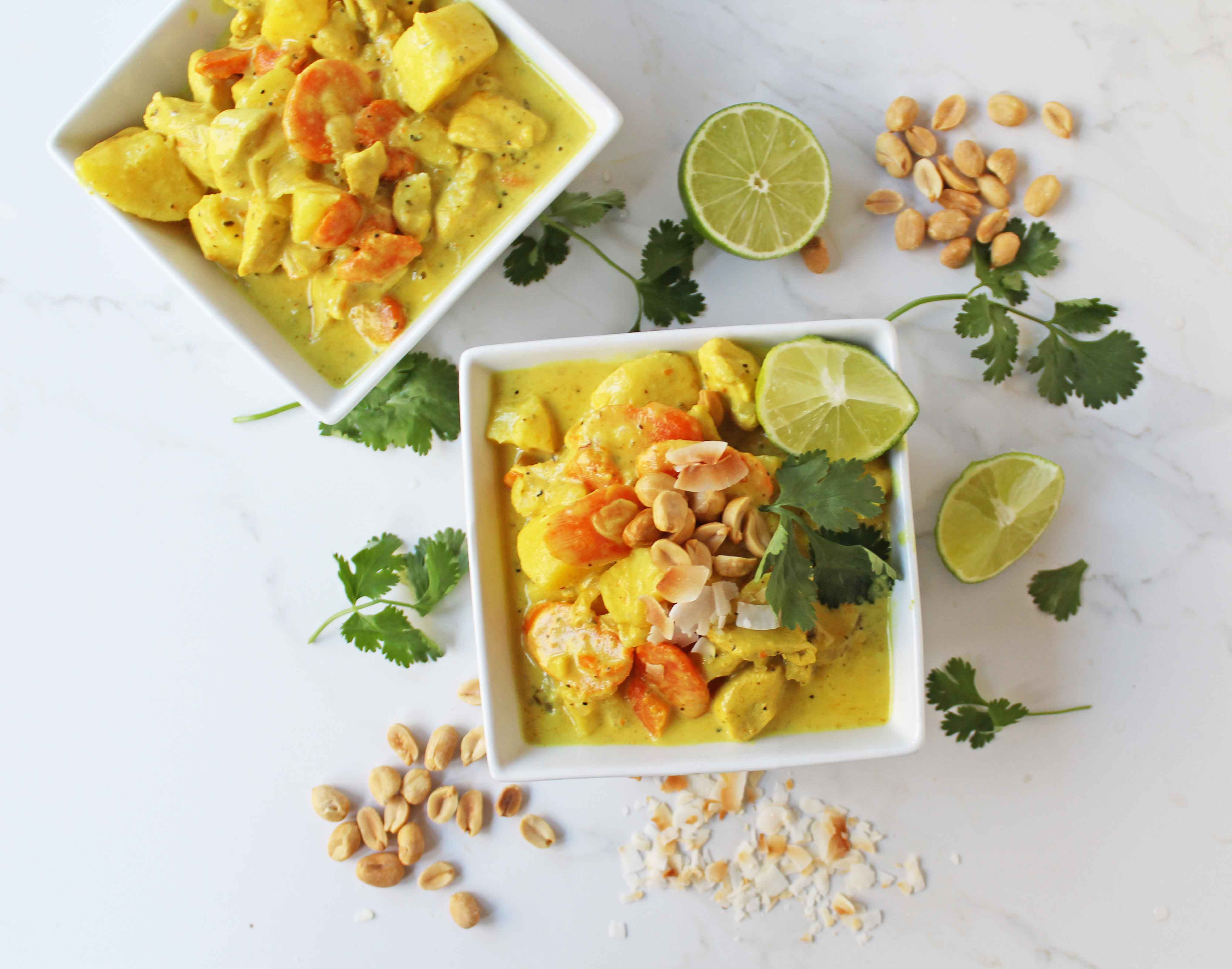 Green Monster Chicken Curry Bowls by Modern Honey. Gluten-free dinner made in 30 minutes. Popular Green Curry Chicken and Vegetables dish.