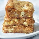 White Chocolate Blondies Recipe. Browned Butter White Chocolate Blondies. The BEST White Chocolate Blondies. www.modernhoney.com