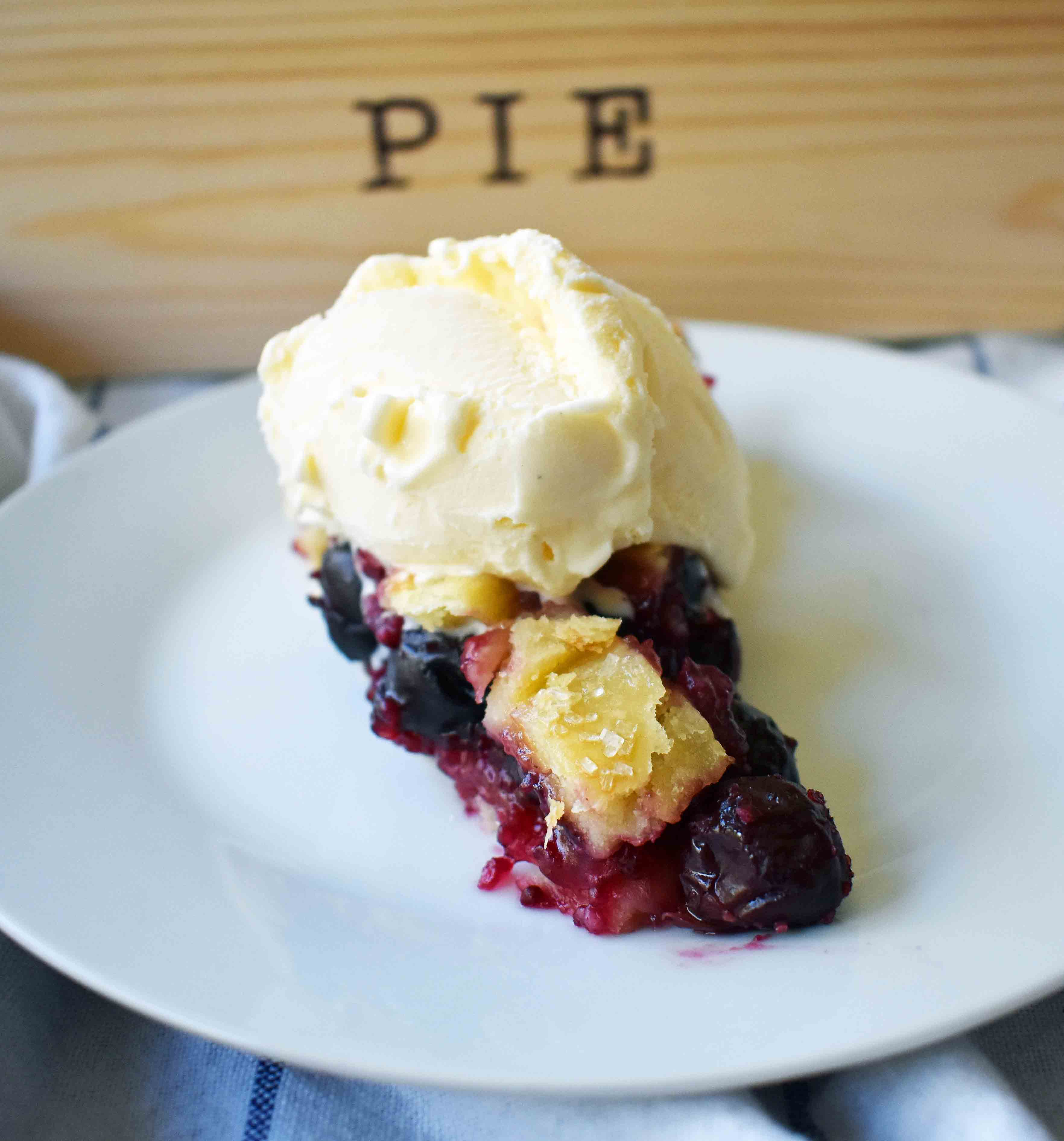 Sweet Cherry Pie by Modern Honey. Sweet Cherries in a simple glaze on top of a flaky, buttery pie crust.