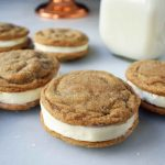 Gingersnap Oreos Sandwich Cookies with Cream Cheese Filling. Soft Gingerbread Cookies filled with sweet cream cheese filling. A favorite holiday cookie!
