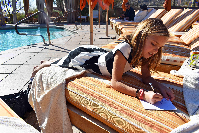 Arizona Four Seasons Christmas. Relaxing poolside at Four Seasons Scottsdale.