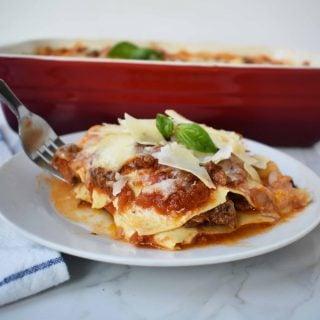 Italian Bolognese Lasagna
