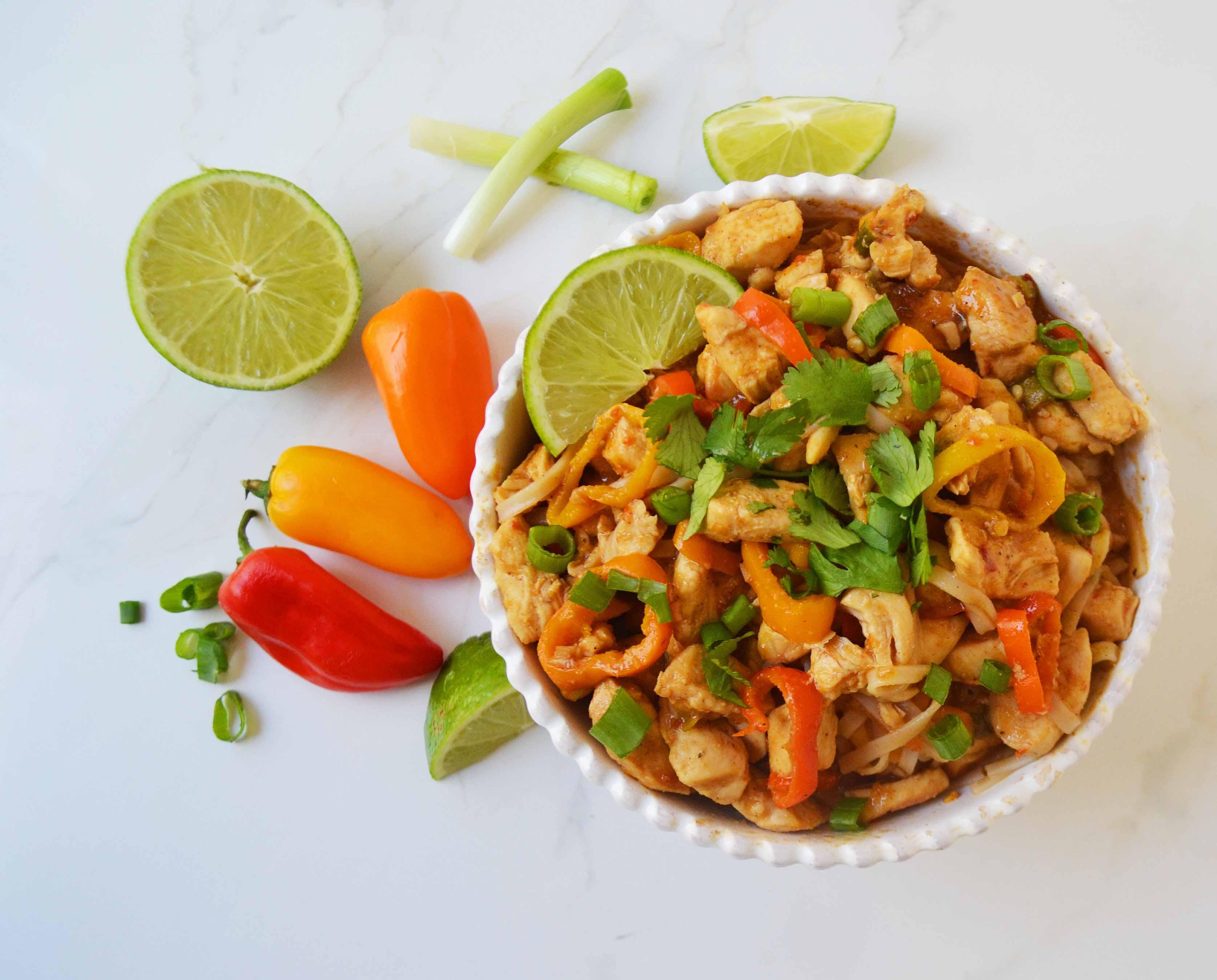 Thai chicken noodles modern honey thai chicken noodles forumfinder Choice Image