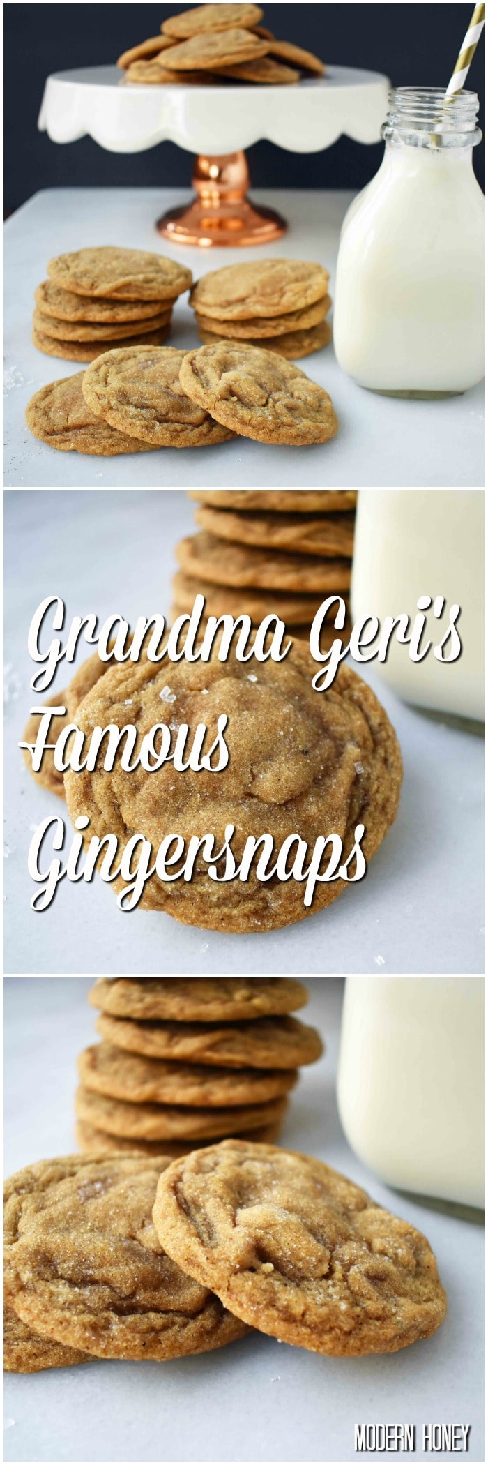 Grandma Geri's Gingersnaps. Soft gingersnaps filled with spices and a secret ingredient. These cookies are so popular for a reason!