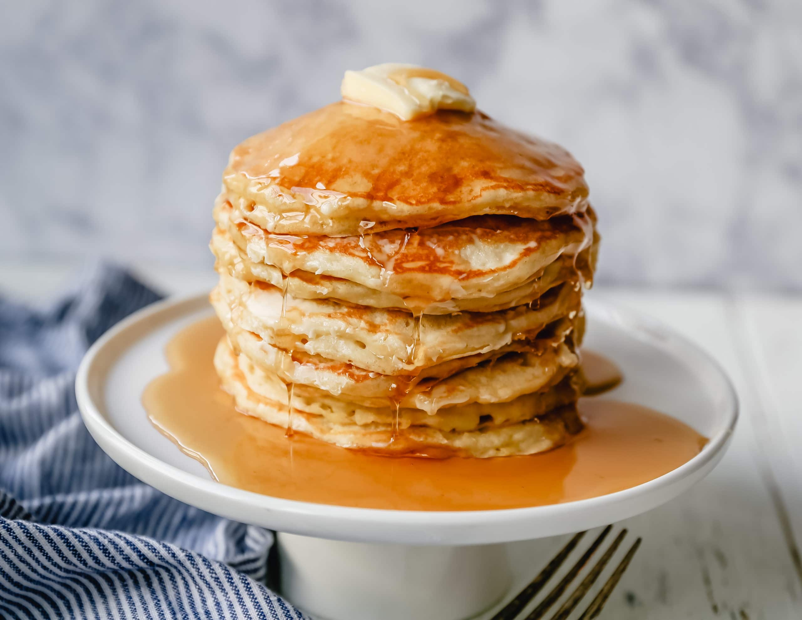 BEST BUTTERMILK PANCAKES. The best homemade buttermilk pancake recipe! This is the only pancake recipe you will ever need. Tender texture, light and fluffy, and these pancakes will melt in your mouth!