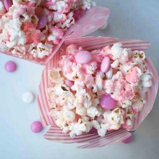 Valentine's White Chocolate M & M Popcorn