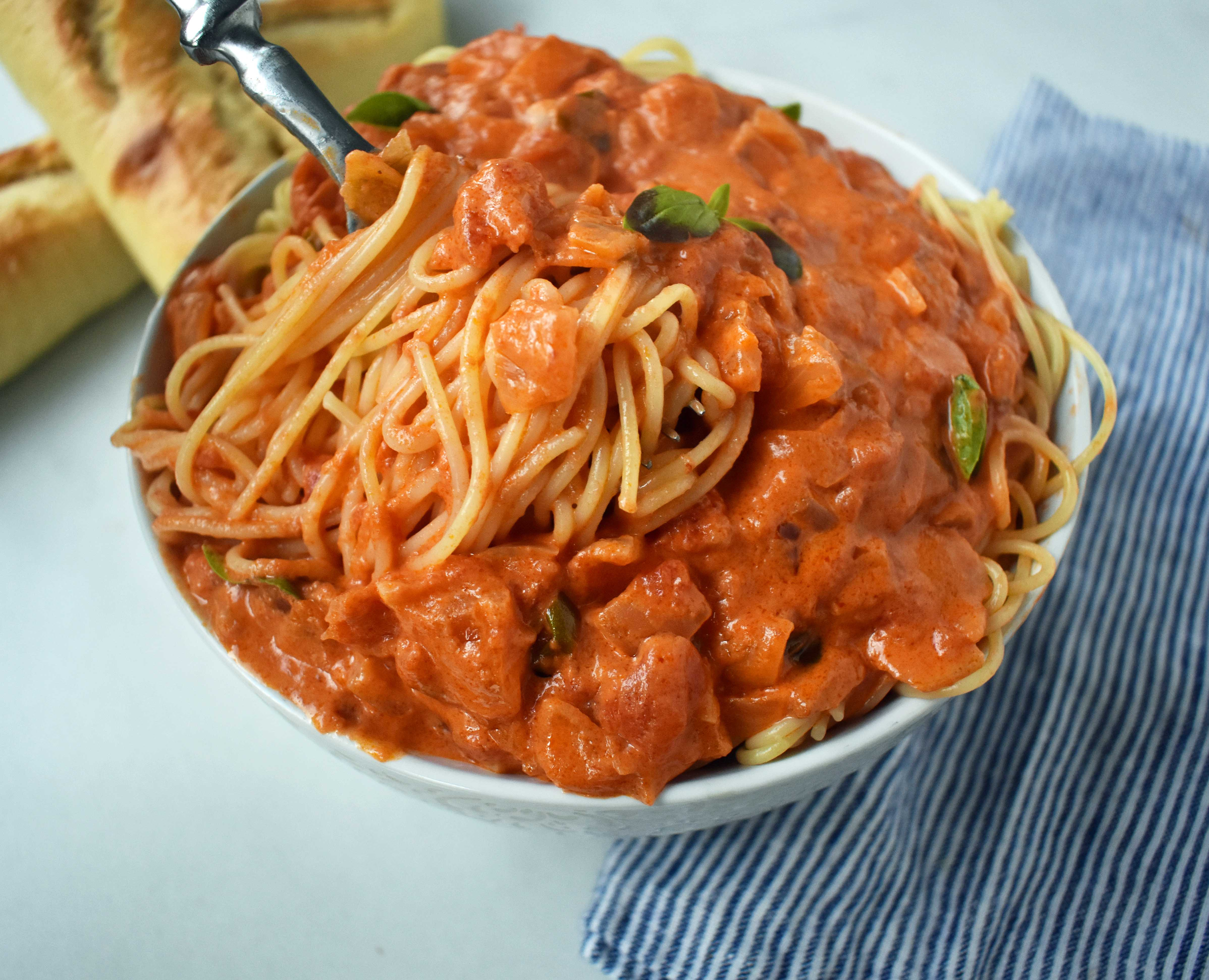 Lover's Pasta with Tomato Cream Sauce by Modern Honey