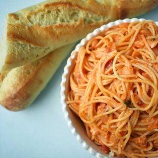 Lover's Pasta with Tomato Cream Sauce