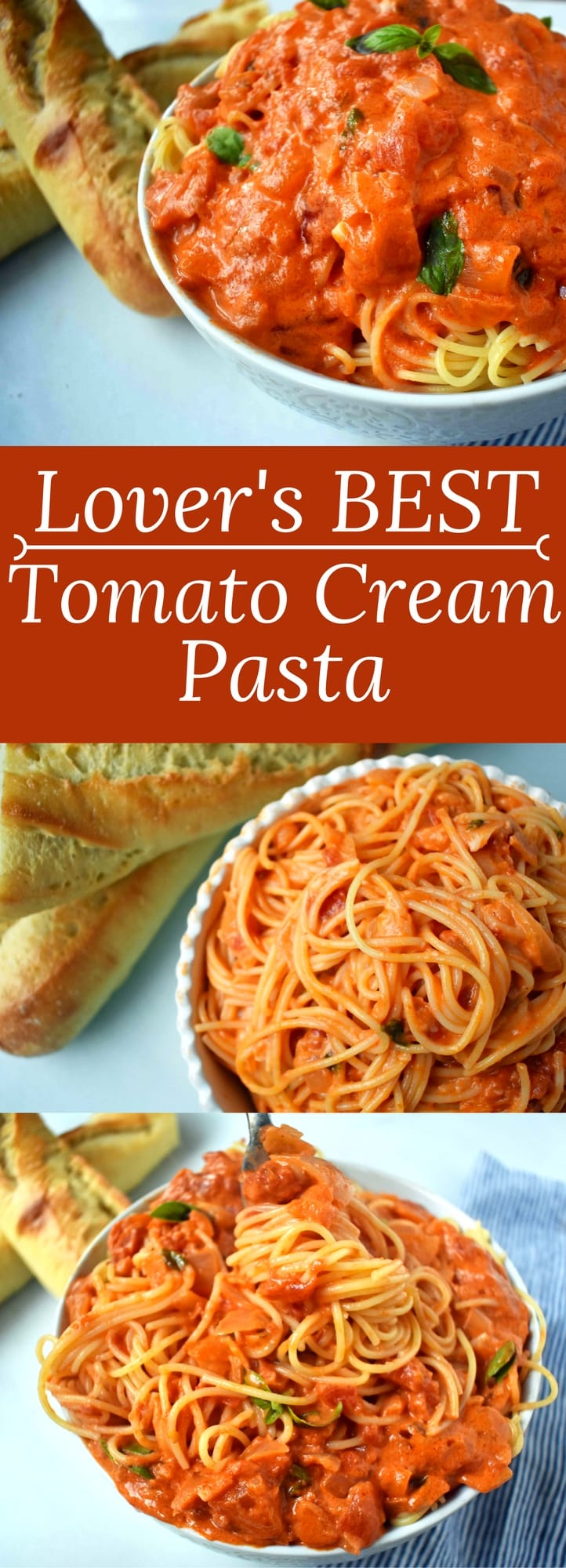 Lover's BEST EVER Tomato Cream Pasta by Modern Honey