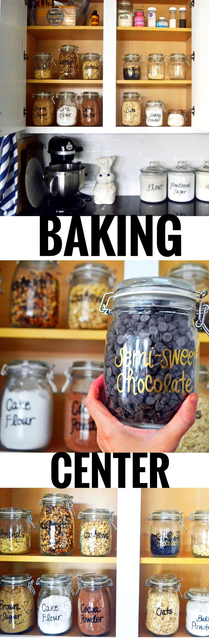 Baking Supplies Storage and Organization. Ideas on how to create the ultimate baking center in & Baking Supplies Storage and Organization | Modern Honey