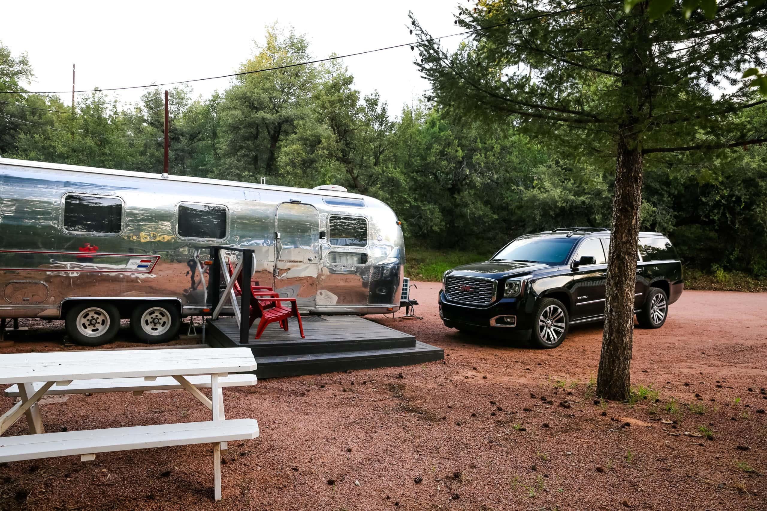 Airstream in Strawberry Arizona at the Strawberry Inn.