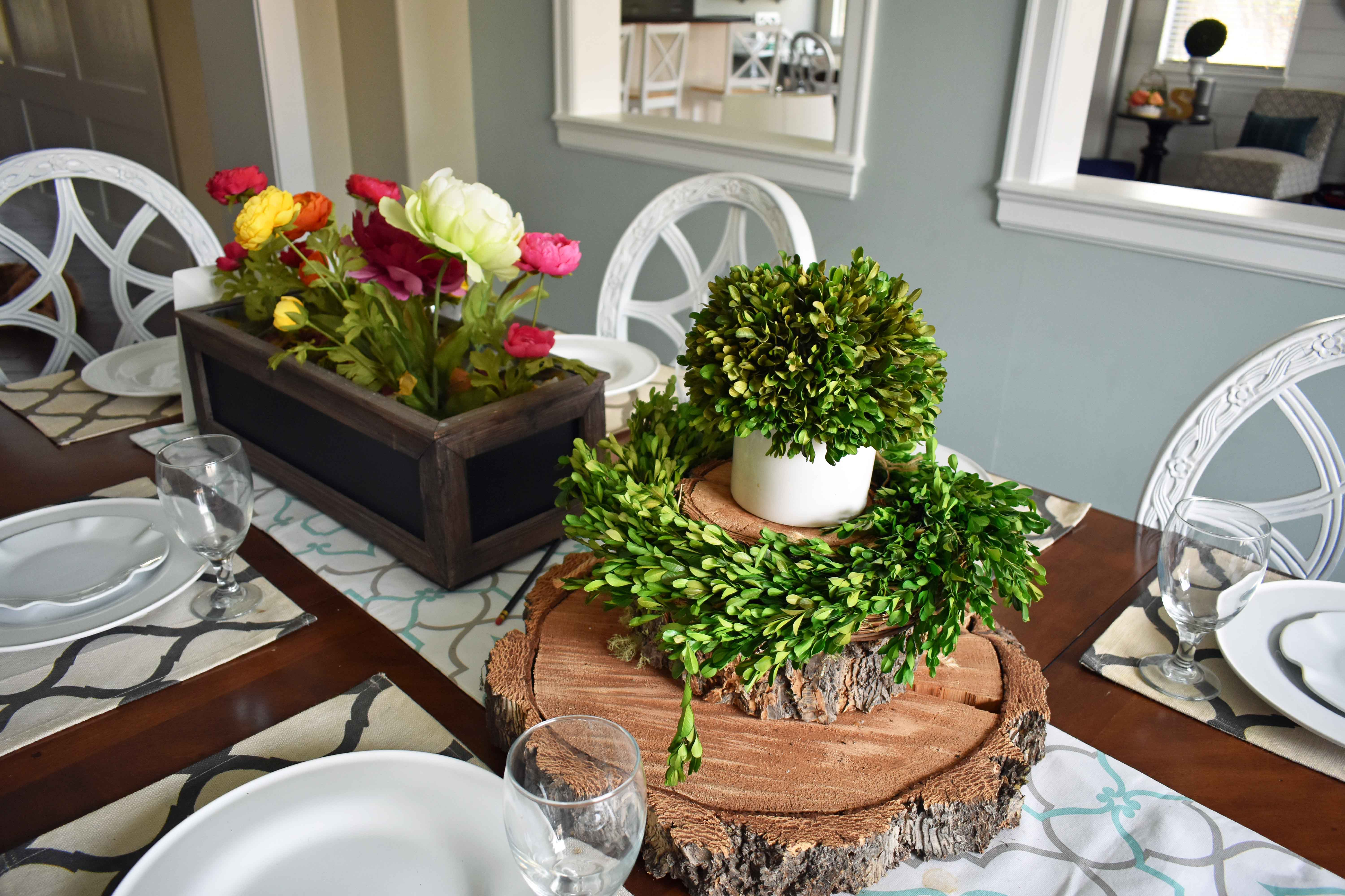 Spring Decoration Ideas. Boxwood Beauty Wreaths can be used for more than just hanging on your front door.