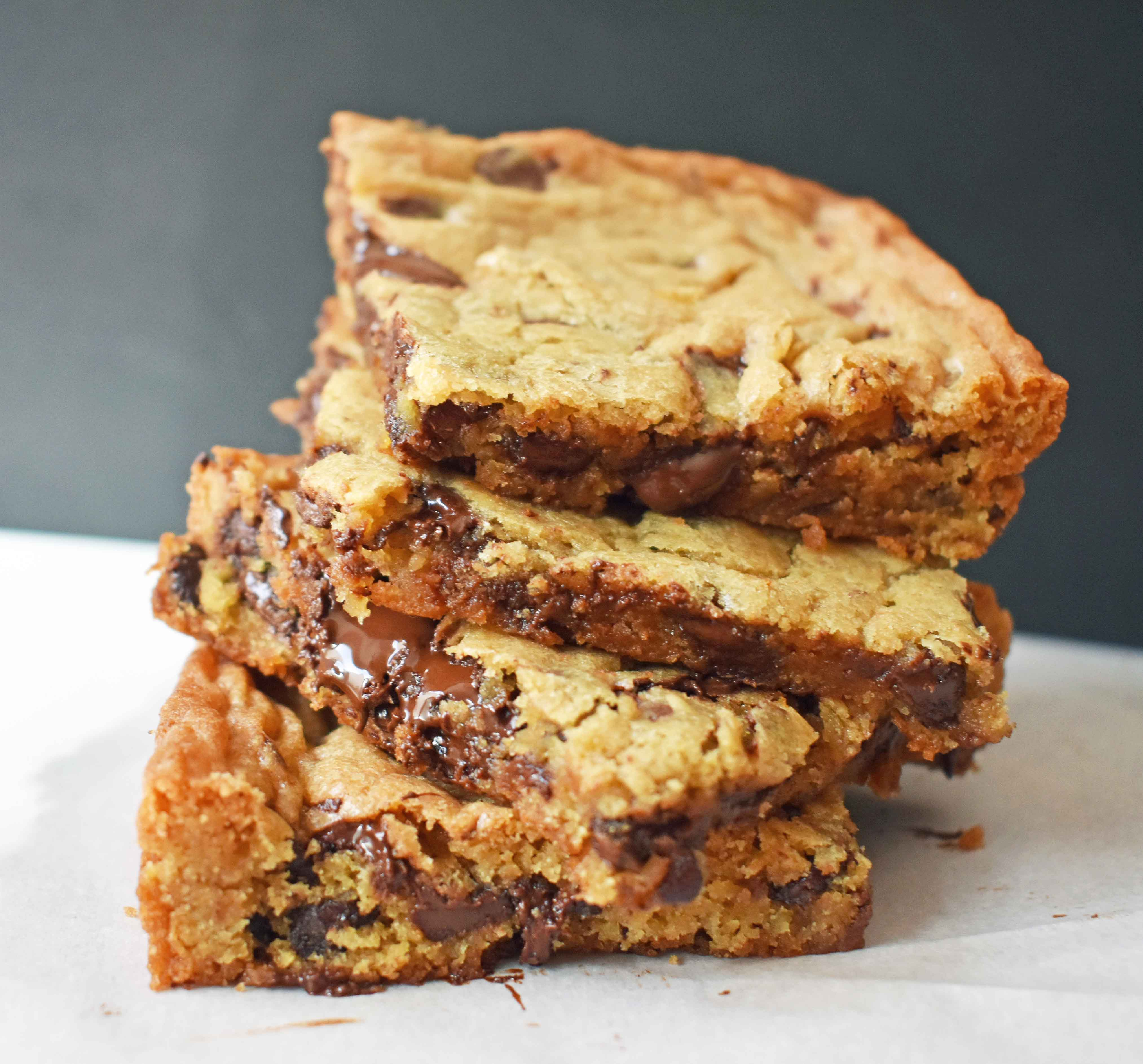 Chocolate Chip Cookie Bars | Modern Honey