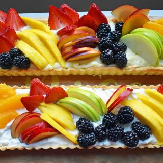 Lemon Cream Filled Fruit Tart