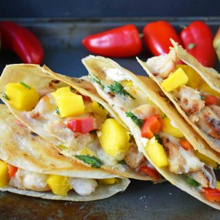 Chicken Mango Quesadillas