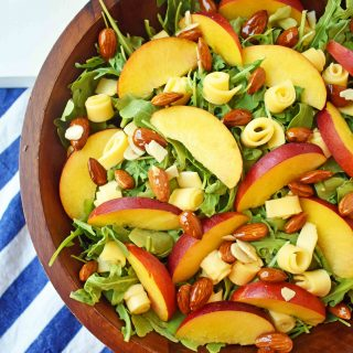 Peach Gouda Honey Almond Salad