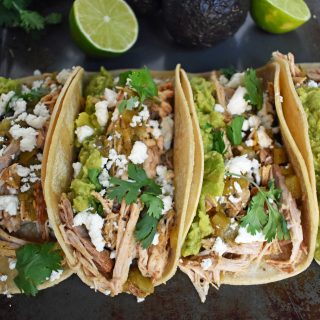 Green Chili Pork Carnitas Tacos