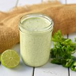 Chuy's Creamy Jalapeno Cilantro Dip Dressing. A copycat recipe for Chuy's famous jalapeno dip. This creamy jalapeno dip can be served with chips, drizzled on a burrito bowl, or as a dressing on a salad. Creamy Jalapeno Cilantro dressing makes everything taste good! Also a Cafe Rio cilantro ranch dressing copycat recipe. www.modernhoney.com