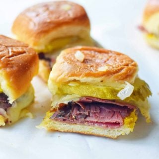 Hot Pastrami and Swiss Tailgate Sliders