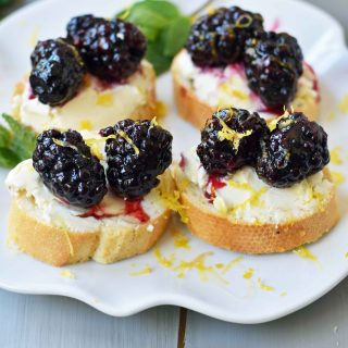 Blackberry and Lemon Mascarpone Crostini